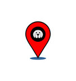dog location logo icon vector image vector image
