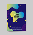 dynamic colorful poster set with fluid shapes vector image