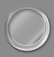 empty silver plate vector image vector image