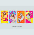 fashion instagram stories template collection vector image vector image