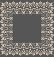 fine floral square frame decorative vector image