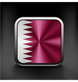 Flag of Qatar as round glossy icon Button with vector image vector image