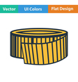 Flat design icon of Measure tape vector image vector image