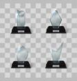 glass trophy award vector image vector image