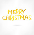 Golden inscription merry Christmas vector image vector image