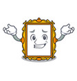 grinning picture frame character cartoon vector image vector image