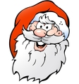 Hand-drawn of an Happy Smiling Santa vector image