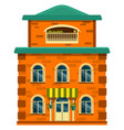 house building icon flat isolated vector image