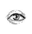 human eye vintage sketch hand drawn vector image