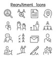 job recruitment interview staff employee icon set vector image