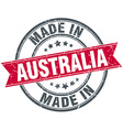 made in Australia red round vintage stamp vector image vector image