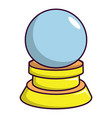 magic crystal ball icon cartoon style vector image vector image