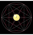 Magic ritual Sacred geometry sign Candle vector image