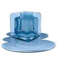 Melting ice cube vector image