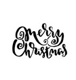 merry christmas holiday modern dry brush ink vector image vector image