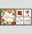 merry christmas template set for greeting vector image vector image