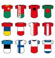 national soccer uniforms vector image