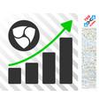 nem sales up chart flat icon with bonus vector image vector image