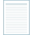 Notebook paper with blue lines vector image vector image