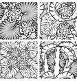 palm flower seaml black 380 vector image vector image