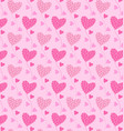 patterns pink heart vector image