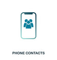 phone contacts icon flat style icon design ui vector image
