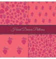 Pink Strawberry Pattern Set vector image vector image