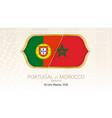 portugal vs morocco group b football vector image vector image