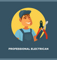 professional electrician service promotional vector image