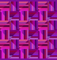 purple geometrical striped square mosaic pattern vector image vector image