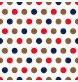 red blue and beige polka dots background vector image vector image