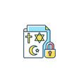 religious beliefs information rgb color icon