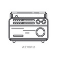 retro broadcast fm radio tuner line icon vector image