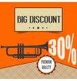 retro discount poster vector image vector image