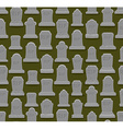 RIP seamless pattern Old gravestone ornament vector image vector image