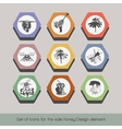 Set of icons for the sale honey 5 vector image vector image