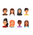 set of people avatar vector image vector image