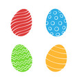 set silhouettes easter eggs vector image