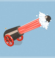 shooting cannon vector image