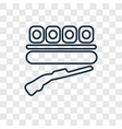 shooting concept linear icon isolated on vector image vector image