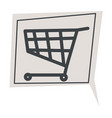 shopping cart trolley sign in chatting box vector image vector image