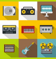sound producing icon set flat style vector image vector image