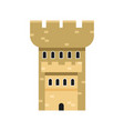 stone fortress tower medieval architecture vector image vector image