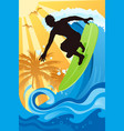 surfer in ocean vector image