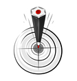 target pencil vector image