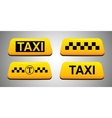Taxi sign set vector image vector image