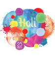 the poster for the festival of holi vector image vector image
