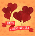 valentines days heart shaped balloons vector image vector image