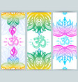 vertical banner with lotuses and ohm symbol vector image vector image