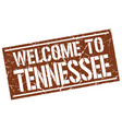 welcome to tennessee stamp vector image vector image